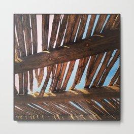 Thatched Roof, Santa Fe, NM Metal Print