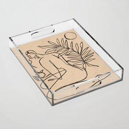 Summer lines V||| Acrylic Tray