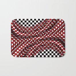 black white red Bath Mat