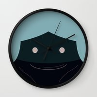 princess leia Wall Clocks featuring Princess Leia by Pillow Faces