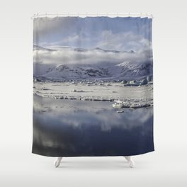 Jokulsarlon Lagoon Beach 12  Shower Curtain