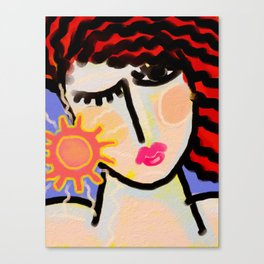 I Love the Sun Abstract Digital Painting Canvas Print