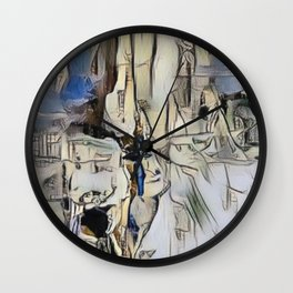 BLEEK - Abstract painting Wall Clock