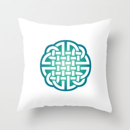 St. Patrick's Day Celtic Blue Knot #1 Throw Pillow