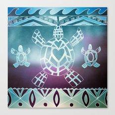 Tribal Sea Turtle Canvas Print