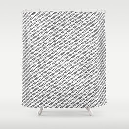 Binary Code - diagonal version Shower Curtain