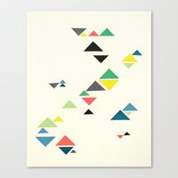 triangles Canvas Prints featuring Triangles by Cassia Beck