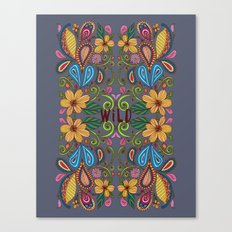 Bohemian Floral Canvas Print
