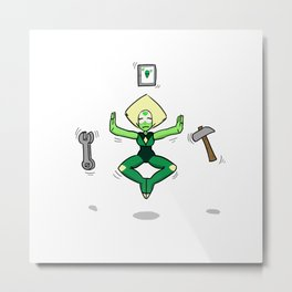 Peridot experience tranquility Metal Print