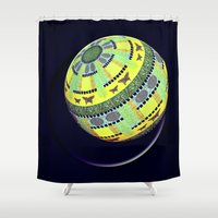 globe Shower Curtains featuring Butterfly globe by LoRo  Art & Pictures