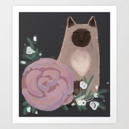 Ragdolls and Roses Art Print