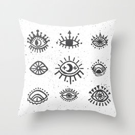 Evil Eyes - symbol of protection Throw Pillow