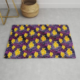 Yellow Tang in a Coral Reef Rug