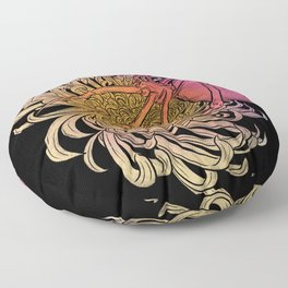 Chrysanthemum & Spider Floor Pillow