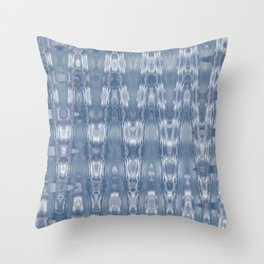 Abstract shades of Blue Throw Pillow