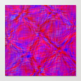 swellings in coral and blue Canvas Print