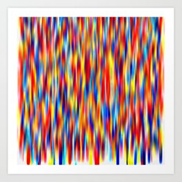 vertical primaries Art Print