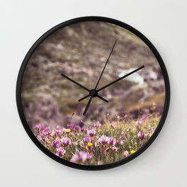 beautiful wild flowers Wall Clock