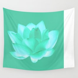 Flower Blue Wall Tapestry