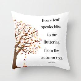 Falling Leaves - Autumn Tree Throw Pillow