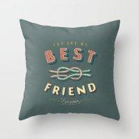 best friend Throw Pillows featuring Best Friend by Seaside Spirit