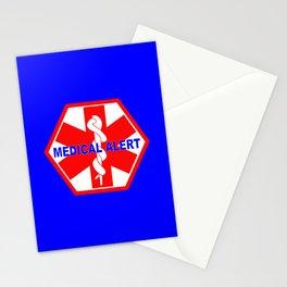 MEDICAL ALERT IDENTIFICATION TAG Stationery Cards