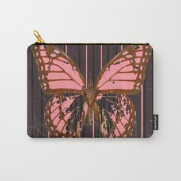 ANTIQUE GRUBY PINK BUTTERFLY ART Carry-All Pouch