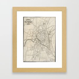 Old Map of Hartford, Connecticut (1859) Framed Art Print