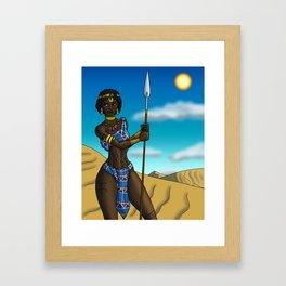 Garamantes Warrior Framed Art Print