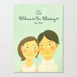S&K Happy Wedding !! Canvas Print