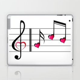 Music love concept Laptop & iPad Skin