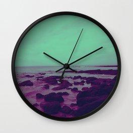 Purple Rocks Wall Clock