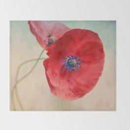 Poppies vintage(5) Throw Blanket