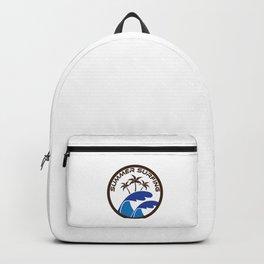 Fresh Hawaiian Style Tshirt Design Summer Surfing Backpack