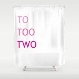 Grammar II Shower Curtain