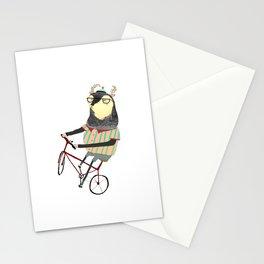 Deer on Bike.  Stationery Cards