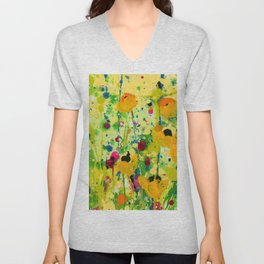 Deep In The meadow by Kathy Morton Stanion Unisex V-Neck