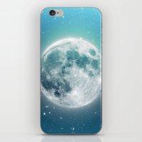 luna iPhone & iPod Skins featuring Luna by Good Sense