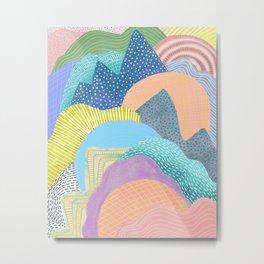 Modern Landscapes and Patterns Metal Print