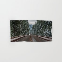 Winter Road Trip - Pacific Northwest Nature Photography Hand & Bath Towel