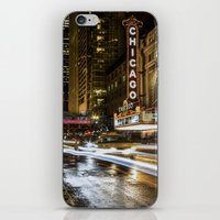 theatre iPhone & iPod Skins featuring Chicago Theatre by Photobyrne