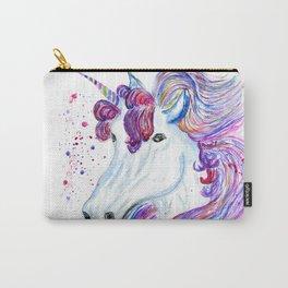 Rainbow unicorn portrait Carry-All Pouch