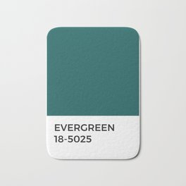 Evergreen • Paint Chip • Pantone Inspired • Cool Tones • Fresh • Forest Bath Mat