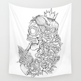 Suicide Sin Lineart Wall Tapestry