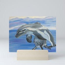 Sublime Dolphins Mini Art Print