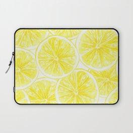 Lemon slices pattern watercolor Laptop Sleeve