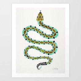 Turquoise Serpent Art Print