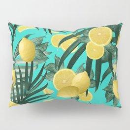Summer Lemon Twist Jungle #1 #tropical #decor #art #society6 Pillow Sham