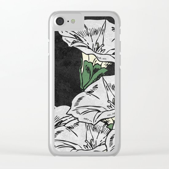 MARBLE FLOWERS Clear iPhone Case