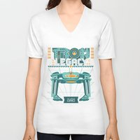 tron V-neck T-shirts featuring Tron Legacy by HomePosters